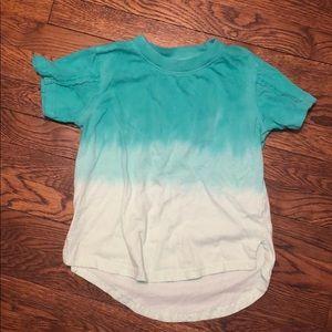 AKADEMIKS kids Ombré shirt size 7- teal/ mint